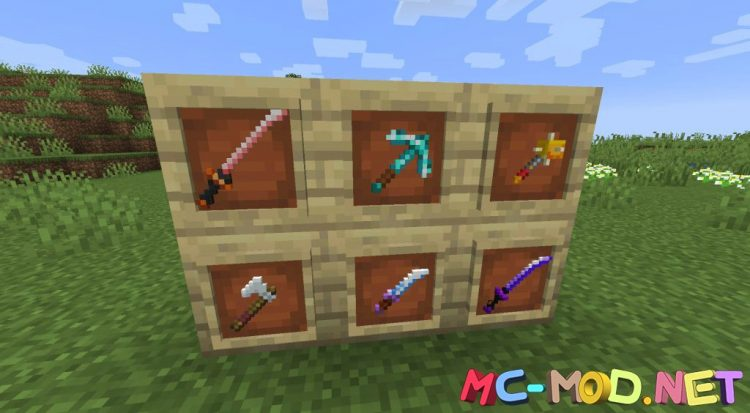 MC Dungeons Weapons mod for Minecraft (15)_compressed