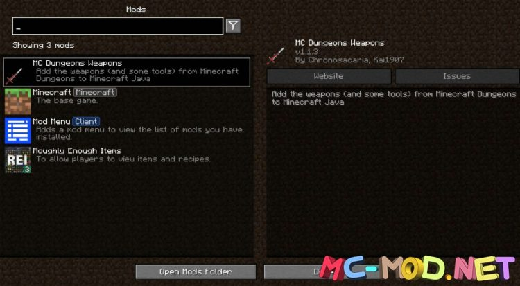 MC Dungeons Weapons mod for Minecraft (1)_compressed