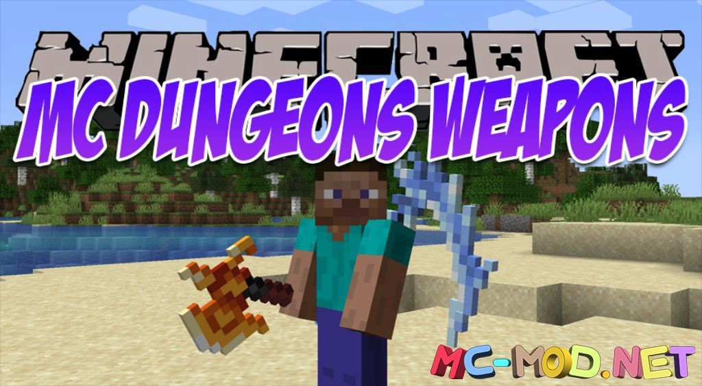 MC Dungeons Weapons mod for Minecraft logo_compressed