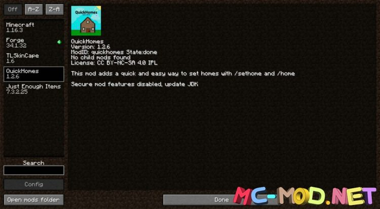 QuickHomes mod for Minecraft (1)_compressed