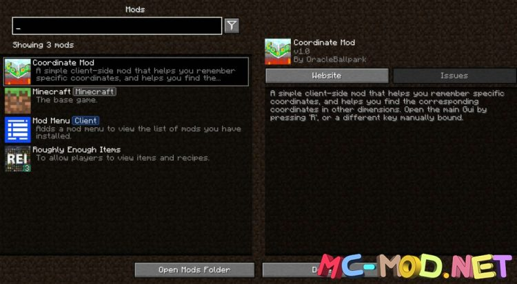 Coordinate Mod mod for Minecraft (1)_compressed