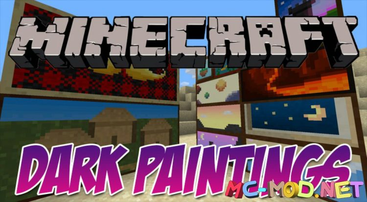 Dark Paintings mod for Minecraft logo_compressed