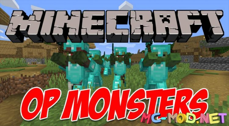 OP Monsters mod for Minecraft logo_compressed