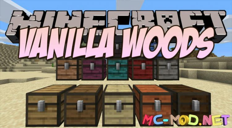 VanillaWoods mod for Minecraft logo_compressed